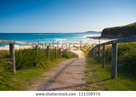 This image shows the NSW Coastline, Australia - stock photo