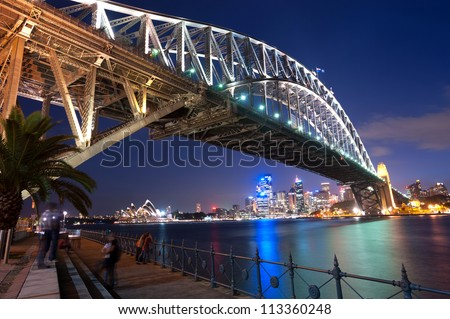 This image shows the Sydney Skyline as seen from Milsons Point, Australia