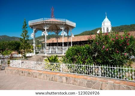This image shows the town of San Sebastian near Peurto Vallarta - stock photo