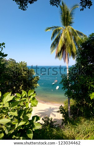 This image shows the town of Yelapa in Mexico (Near Puerto Vallarta) - stock photo