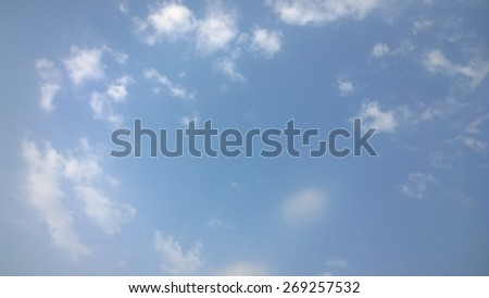 This is a blue sky - stock photo