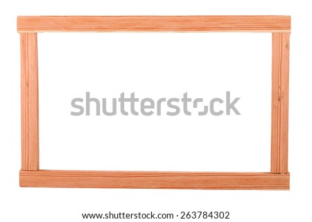 This is a building materials. And this object for repair some frame.  Some people make a birdcage from this object. White Background - stock photo