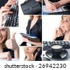 This is a business themed collage. - stock photo
