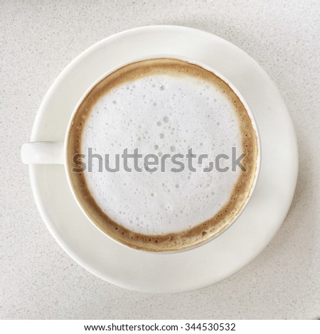 This is a cappuccino coffee on top view - stock photo