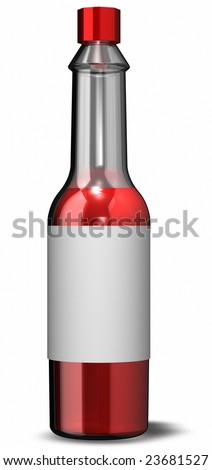 This is a 3D rendering of Hot Sauce - stock photo
