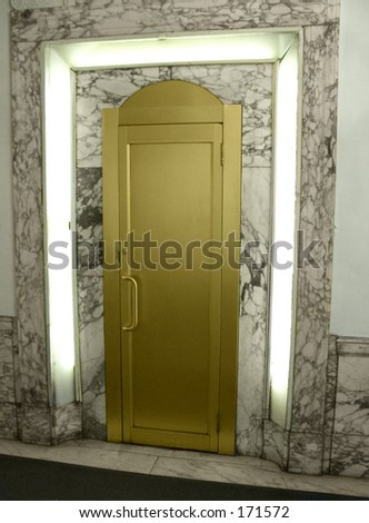 This is a futuristic looking brass door taken inside an old theatre in Times Square & Theatre Doors Stock Images Royalty-Free Images u0026 Vectors ... pezcame.com