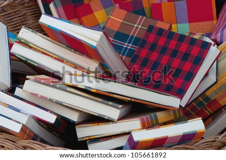 this is a group of colorful books - stock photo