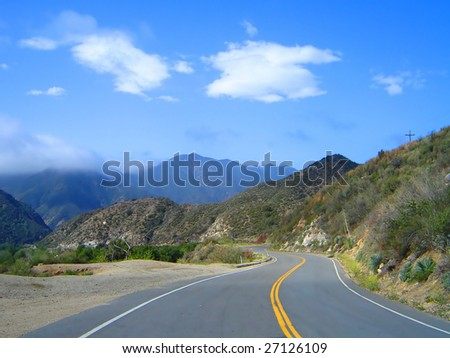 This is a highway in the San Gabriel Mountains in California.