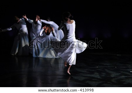 This is a modern dance performance - stock photo