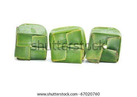 This is a Nature Package of Thai Dessert - stock photo