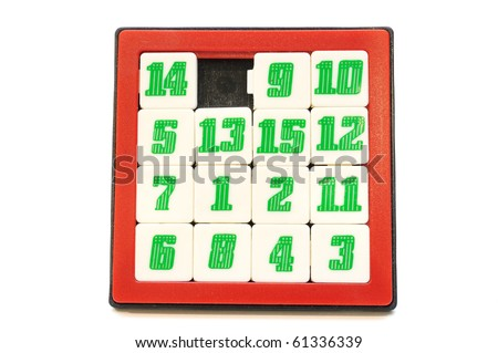This is a Number Game. play slide correct you win! - stock photo