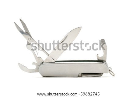 This is a Penknife. It taken in isolated shot - stock photo