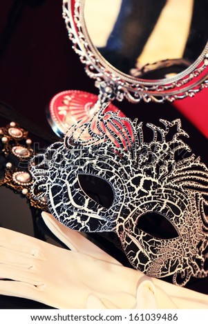 This is a photo carnival mask of Venice - stock photo