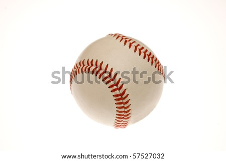 This is a photo of a baseball on white background - stock photo