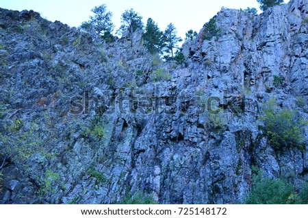 This is a photo of a rock formation landscape in Casper, Wyoming. Casper Wy - This Photo Rock Formation Landscape Casper Stock Photo (Royalty Free