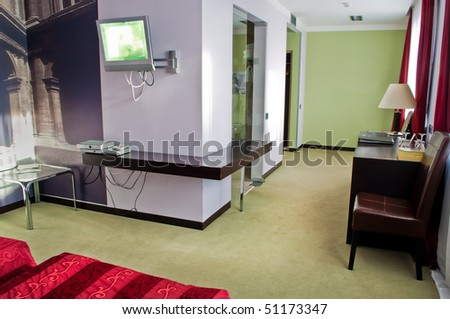 This is a photograph of a five star hotel room