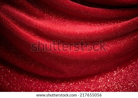 This is a polyester velelvet fabric covered with reflective dots that give the image its glitter.  - stock photo