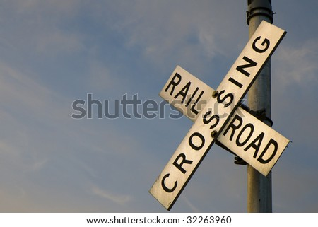 This is a Rail Road Crossing - stock photo