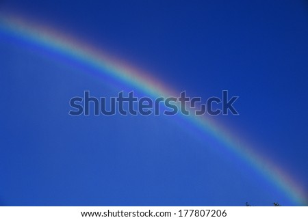 This is a rainbow near the Niagara Falls. - stock photo
