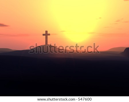 This is a religious cross. - stock photo