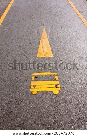 This is a symbol of ca way on the ground - stock photo
