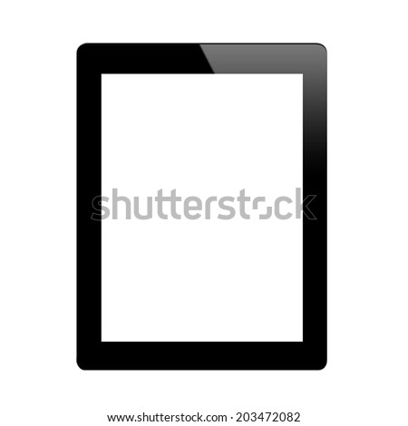 This is a tablet ,it's have a black color - stock photo