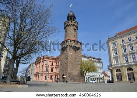This is a view of Gorlitz city view. April 30, 2016. Gorlitz, Germany.