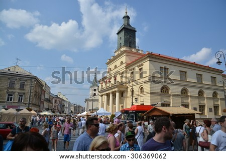 This is a view of the Jagiellonian Fair in Lublin. August 15, 2015. Lublin, Poland.