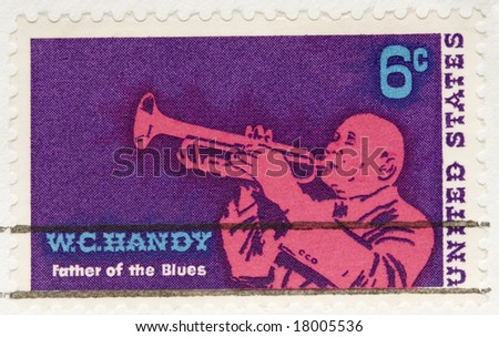 This is a Vintage 1968 Stamp WC Handy