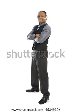 This is an image of a business man standing