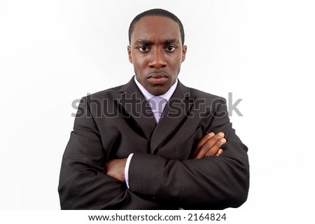 This is an image of a businessman, who is very angry. - stock photo