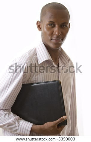 This is an image of a businessman with a portfolio.