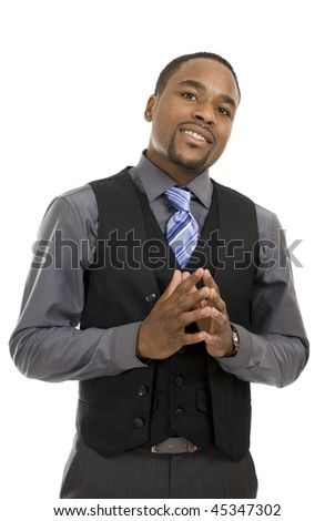 This is an image of a confident business man posing.