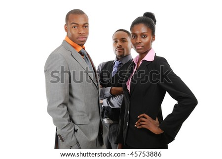 This is an image of business team standing.