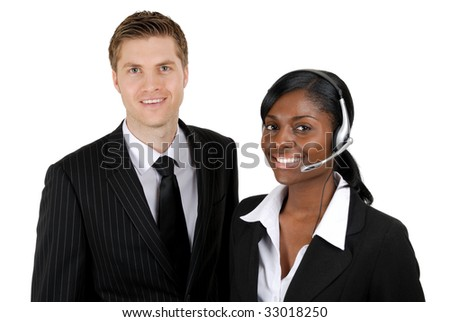 This is an image of customer support operator team.