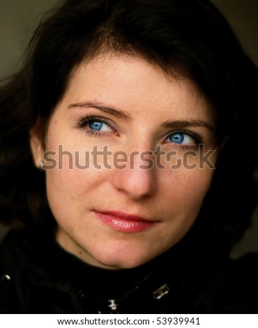 This is beautiful girl. - stock photo