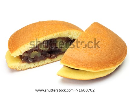 This is called dorayaki with a Japanese sweet.