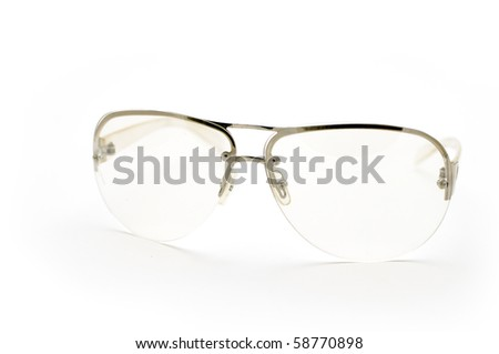 This is Glasses in isolate shot - stock photo