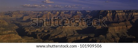This is Grand Canyon National Park from the south rim viewpoint. - stock photo