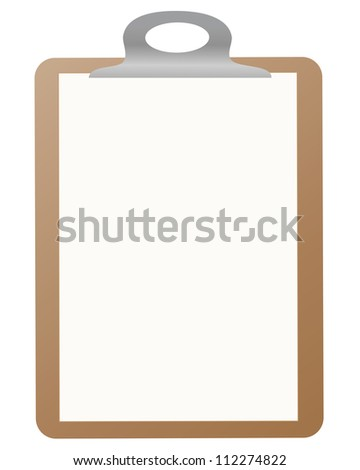 This is illustration of a Clipboard. Web icon. - stock photo