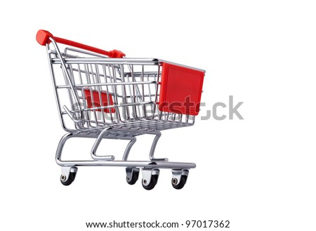 This is shopping cart isolated on white