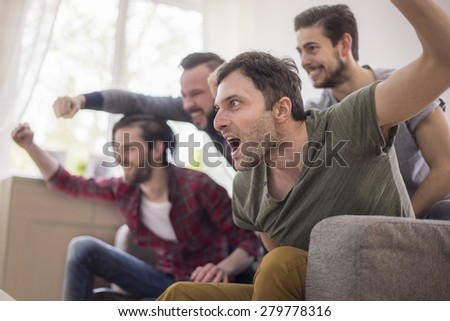 This is sport only for men!  - stock photo