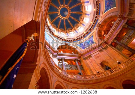 This is the grand hall of the Minnesota State Capitol. More with keyword Series002. - stock photo