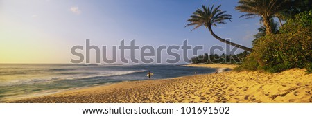 This is the north shore of the island of Oahu. - stock photo