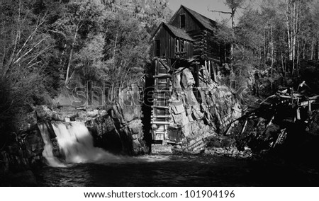 This is the River Mill in the autumn. - stock photo