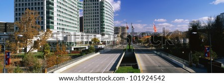 This is the San Jose skyline on a Saturday morning. This area is known as Silicon Valley. - stock photo