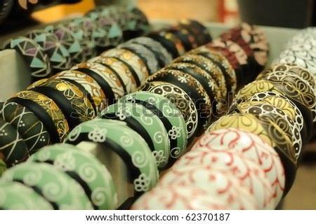 This is the wood carvings from Thailand selling at Chatuchak Market. Bangkok, Thailand - stock photo