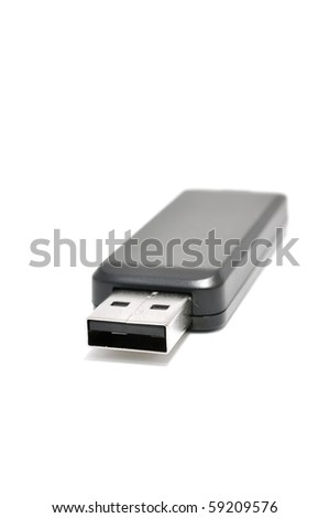 This is Thumb Drive usb 2.0 port - stock photo