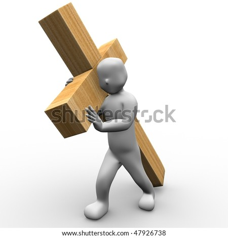 This is to illustrate the sacrifice that Jesus has made for us - stock photo