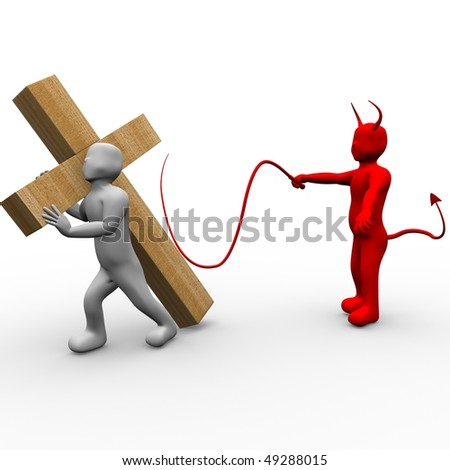 This is to illustrate the suffering of Jesus - stock photo